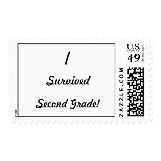 I survived Second Grade! Stamps