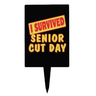 I SURVIVED SENIOR CUT DAY CAKE PICKS