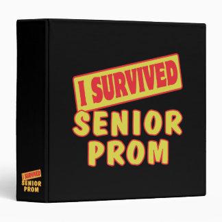 I SURVIVED SENIOR PROM 3 RING BINDERS