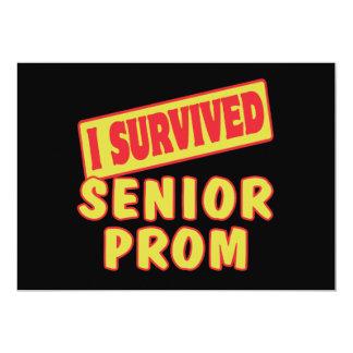 I SURVIVED SENIOR PROM PERSONALIZED INVITATION