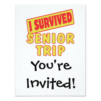 I SURVIVED SENIOR TRIP CARD