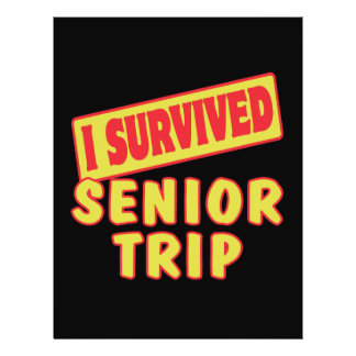 I SURVIVED SENIOR TRIP PERSONALIZED FLYER