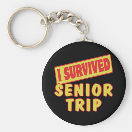 I SURVIVED SENIOR TRIP KEY CHAINS