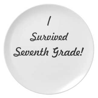 I survived Seventh Grade! Party Plates