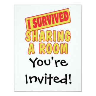 I SURVIVED SHARING A ROOM 4.25X5.5 PAPER INVITATION CARD