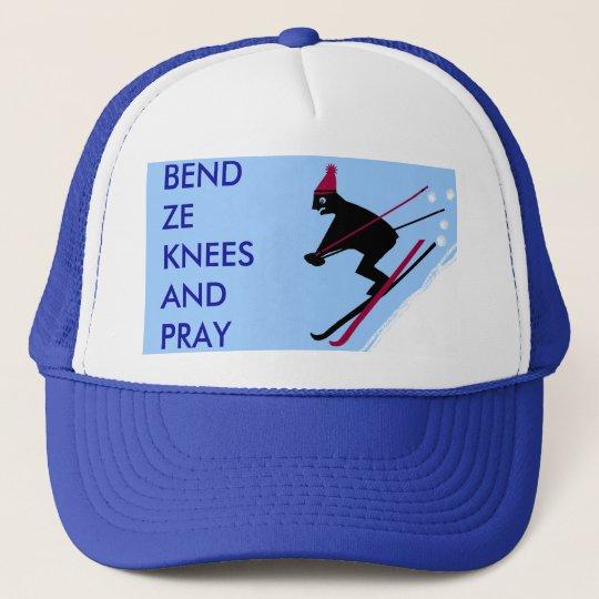 I survived ski season trucker hat