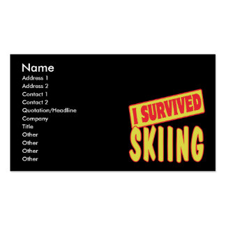 I SURVIVED SKIING Double-Sided STANDARD BUSINESS CARDS (Pack OF 100)