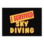 "I SURVIVED SKYDIVING 5"" X 7"" INVITATION CARD"