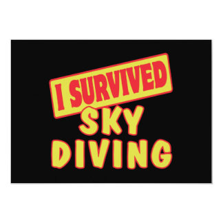 I SURVIVED SKYDIVING 5X7 PAPER INVITATION CARD