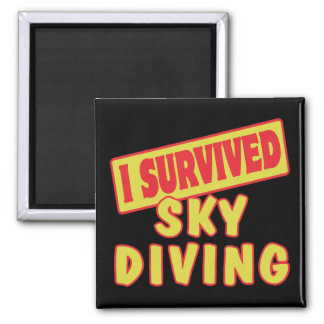 I SURVIVED SKYDIVING MAGNET