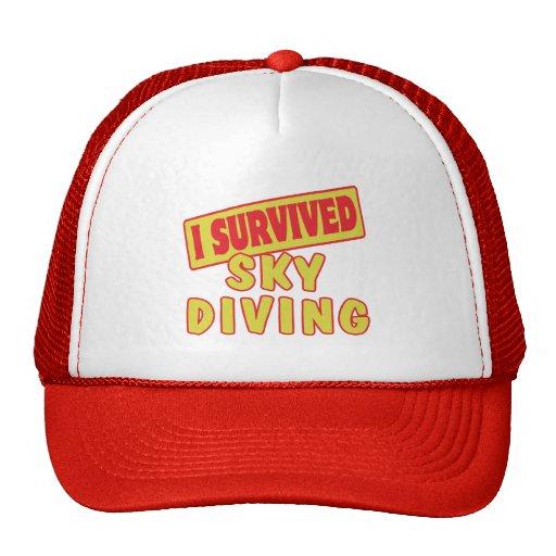 I SURVIVED SKYDIVING TRUCKER HAT