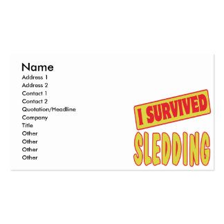 I SURVIVED SLEDDING Double-Sided STANDARD BUSINESS CARDS (Pack OF 100)