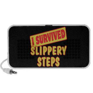 I SURVIVED SLIPPERY STEPS TRAVEL SPEAKER