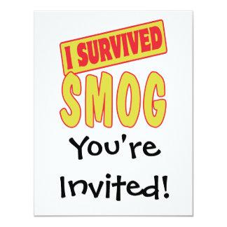 I SURVIVED SMOG 4.25X5.5 PAPER INVITATION CARD
