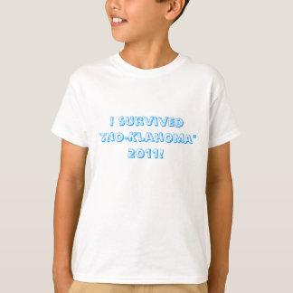 "I survived ""Sno-Klahoma"" 2011! T-Shirt"