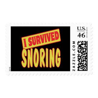 I SURVIVED SNORING STAMP