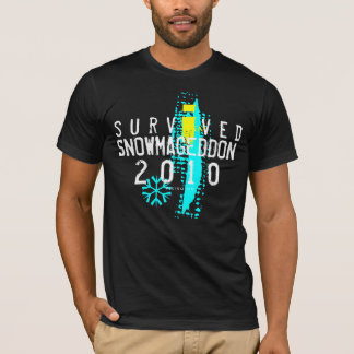 I Survived Snowmageddon Black T-Shirt 2