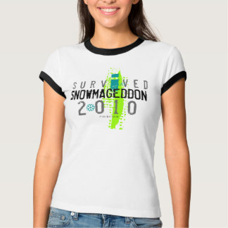 I Survived Snowmageddon White T-Shirt 2