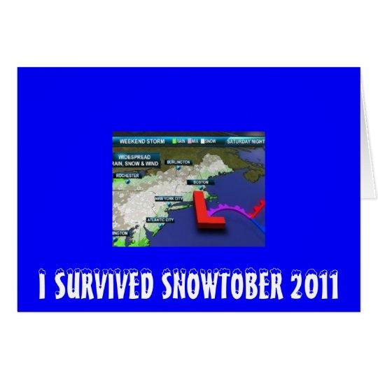 I SURVIVED SNOWTOBER 2011 CARD