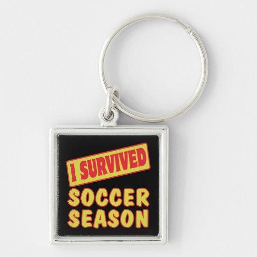 I SURVIVED SOCCER SEASON KEY CHAINS