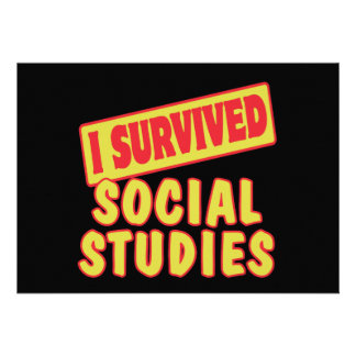 I SURVIVED SOCIAL STUDIES CUSTOM ANNOUNCEMENT