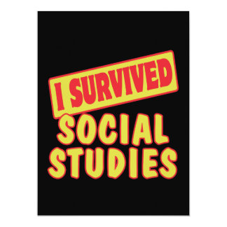 I SURVIVED SOCIAL STUDIES CUSTOM ANNOUNCEMENTS