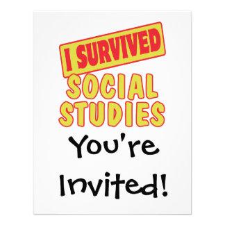 I SURVIVED SOCIAL STUDIES INVITE