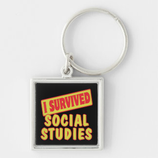 I SURVIVED SOCIAL STUDIES KEYCHAIN
