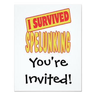 I SURVIVED SPELUNKING CARD