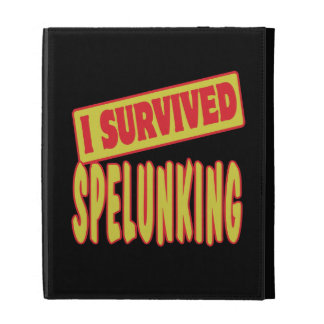 I SURVIVED SPELUNKING iPad FOLIO COVERS