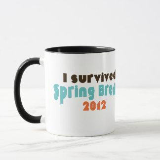 I survived spring break 2012 mug