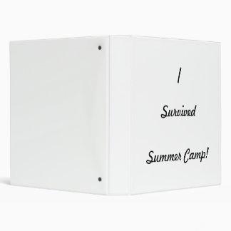 I survived summer camp! binder
