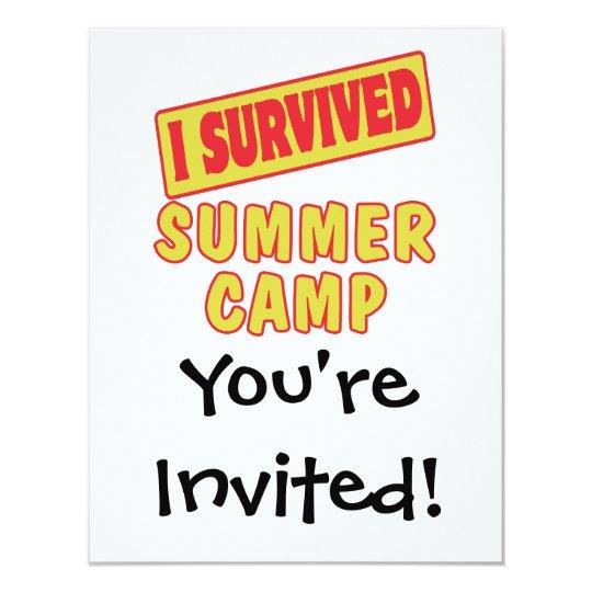 I SURVIVED SUMMER CAMP CARD