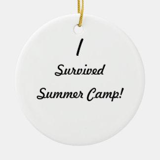 I survived summer camp ornament