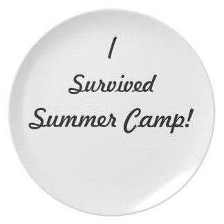 I survived summer camp! party plate