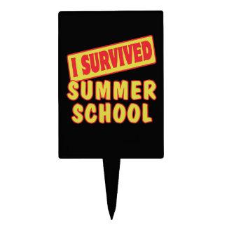 I SURVIVED SUMMER SCHOOL CAKE PICKS