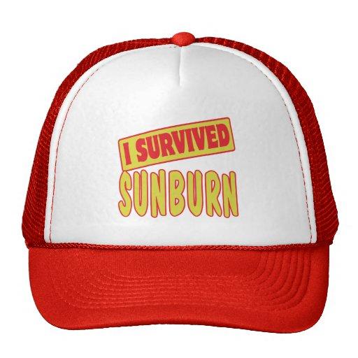 I SURVIVED SUNBURN TRUCKER HAT