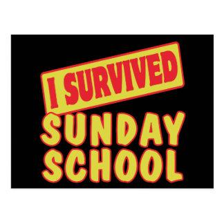 I SURVIVED SUNDAY SCHOOL POSTCARD