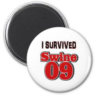I Survived Swine 09 2 Inch Round Magnet