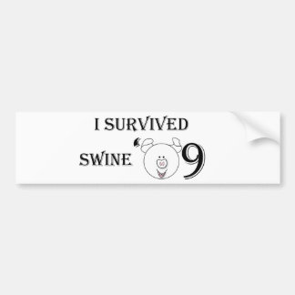 I Survived Swine '09 Car Bumper Sticker