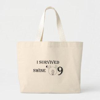 I Survived Swine '09 Jumbo Tote Bag