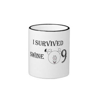 I Survived Swine '09 Ringer Coffee Mug