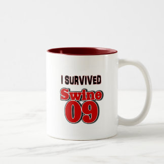 I Survived Swine 09 Two-Tone Coffee Mug