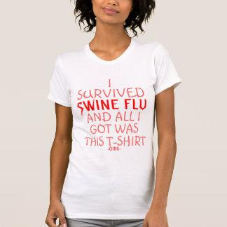 I survived Swine Flu Tee Shirts