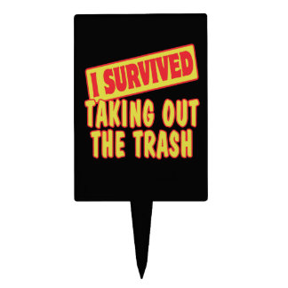 I SURVIVED TAKING OUT THE TRASH CAKE TOPPERS