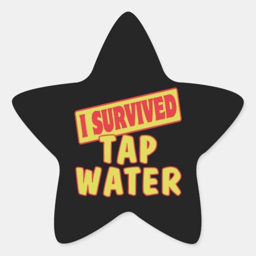 I SURVIVED TAP WATER STICKER