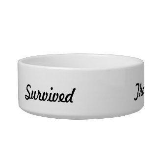 I survived that! bowl