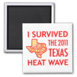 I Survived the 2011 Texas Heat Wave Magnets