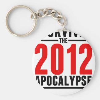 I Survived the 2012 Apocalypse! Keychain