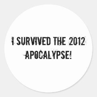 I survived the 2012 Apocalypse! Sticker